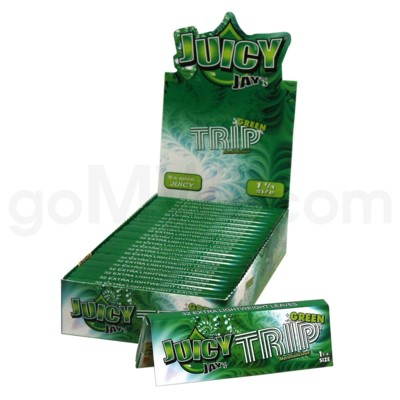 Juicy Jay's 1 1/4'' Rolling Paper -Green Trip 32/pk 24ct/bx