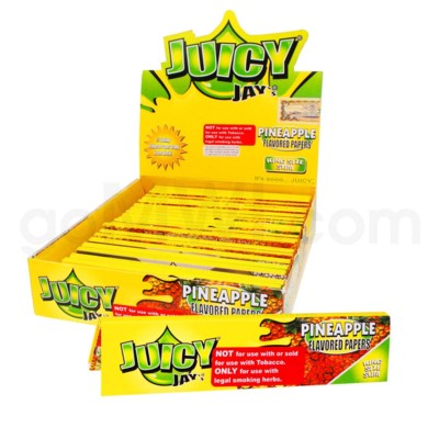 Juicy Jay's KS Rolling Papers-Pineapple 32/pk 24ct/bx