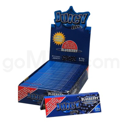 Juicy Jay's 1 1/4'' Rolling Paper -Blueberry 32/pk 24ct/bx