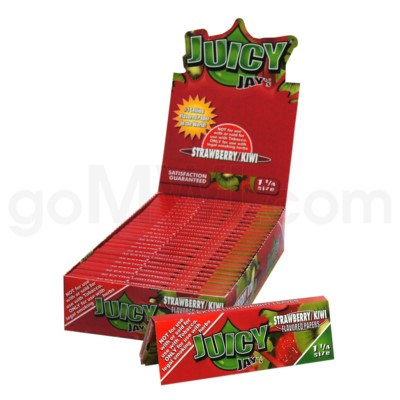 Juicy Jay's 1 1/4'' Rolling Paper-Strawberry Kiwi 32/pk 24ct