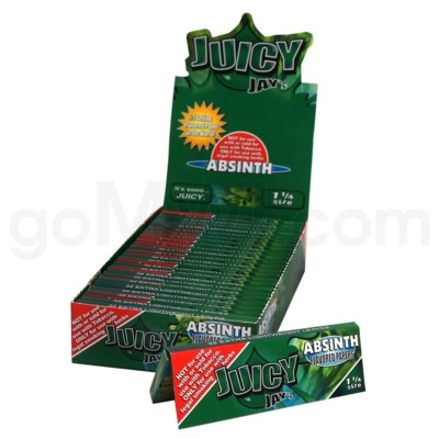 Juicy Jay's 1 1/4'' Rolling Paper -Absinth 32/pk 24ct/bx