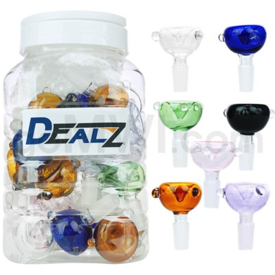 Kit: AS-2CL14 GOG 14mm Male Bowl w. Marbles - Asst 36ct