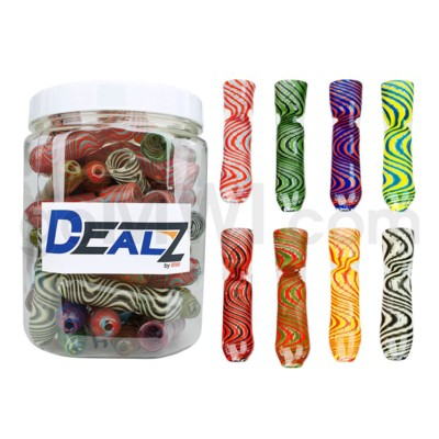 Kit: CHL08 Chillum Latticino Zig Zag Asst (60ct)
