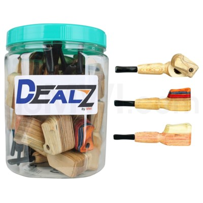 Kit: WP19 Wooden Pipe w/ Twist Cap Plain Wooded (20ct)