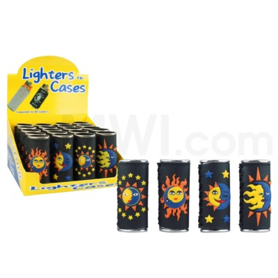 DISC Lighter Case Large BIC Sun & Moon 20/display