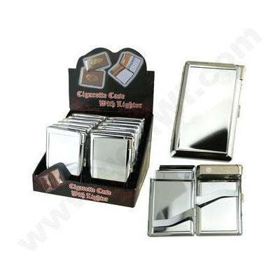 Cigarette Case w/lighter/80mm double clip asst designs