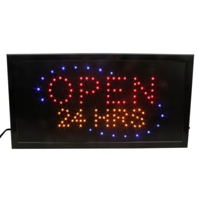 LED/SIGN OPEN 24 HRS19