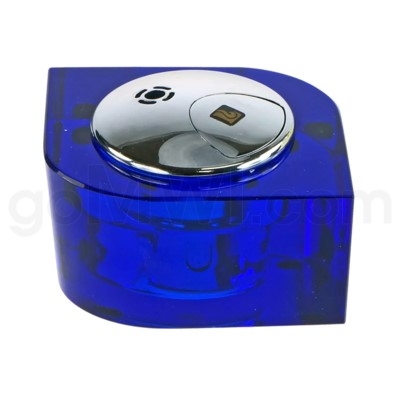 Blue Table Lighter in Glass Lucienne