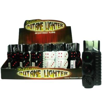 DISC Lighter Dice w/ Light 24PC/BX 12/CS 288 Total