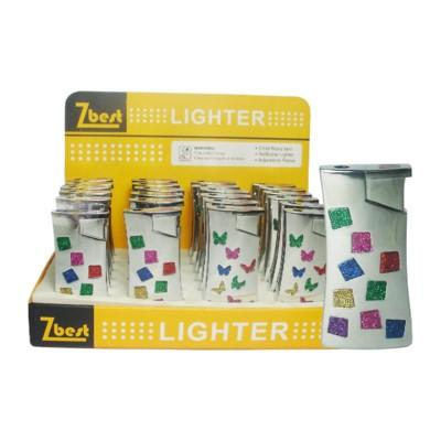 Disc  Lighter Diamonds Color Reg Flame 24PC/BX 12/CS 288 Tot