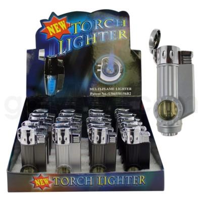 DISC Lighter Triple Torch w/7 color flashing  20PC/BX 12/CS