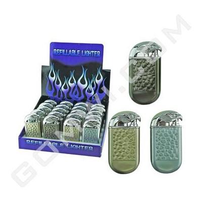 DISC Lighter Double Torch Lighter w/Eagle Design 20PC/BX