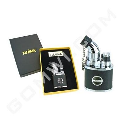 DISC Fujima Table Torch Lighter: 45 Degree Skin - Silver