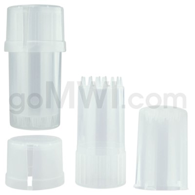 Medtainer 20 Dram Clear 12PC/BX