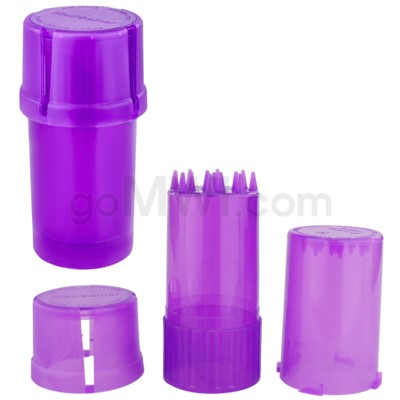 Medtainer 20 Dram Clear Purple 12PC/BX