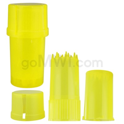 Medtainer 20 Dram Clear Yellow 12PC/BX