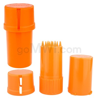 Medtainer 20 Dram Solid Orange 12PC/BX