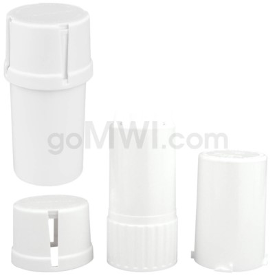Medtainer 20 Dram Solid White 12PC/BX