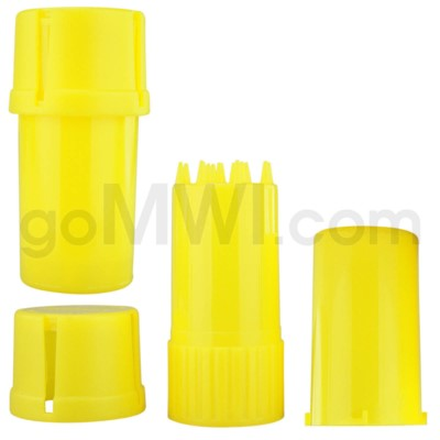 Medtainer 20 Dram Solid Yellow 12PC/BX