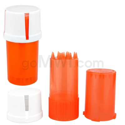 Medtainer 20 Dram Child Resistant Clear Orange