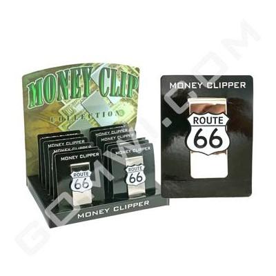 Money Clip Metal Design Route 66 12/12/144