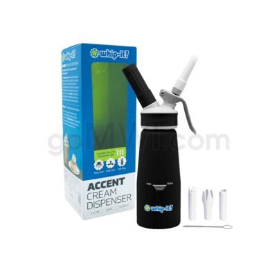 Whip-It Rubber Coated Pro Dispenser .25L- Black 6PC/CS
