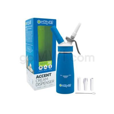 Whip-It Rubber Coated Pro Dispenser .25L-1/2PT Blue 6PC/CS