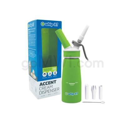 Whip-It Rubber Coated Pro Dispenser .25L- Green 6PC/CS