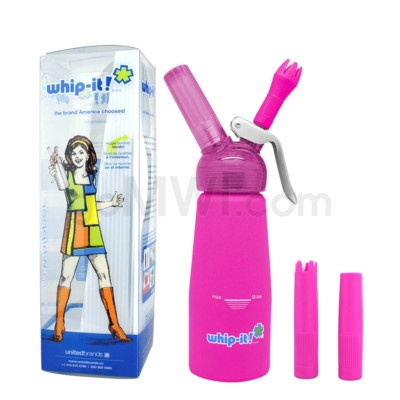 Whip-It Rubber Coated Pro Dispenser .25L- Pink 6PC/CS