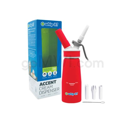 Whip-It Rubber Coated Pro Dispenser .25L- Red 6PC/CS