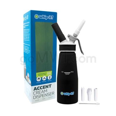 Whip-It Rubber Coated Pro Dispenser .5L- Black 6PC/CS