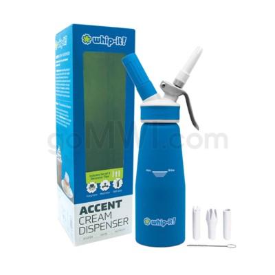Whip-It Rubber Coated Pro Dispenser .5L- Blue 6PC/CS