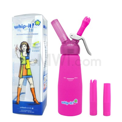 Whip-It Rubber Coated Pro Dispenser .5L -Pink 6PC/CS