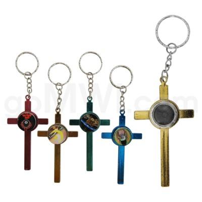 Metal Pipe  Keychain Cross