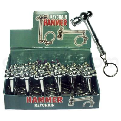 Metal Metal Pipe  Hammer keychain  24/10/240