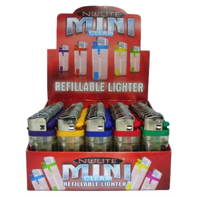 DISC Lighter Nulite Mini Clear 50CT/BX