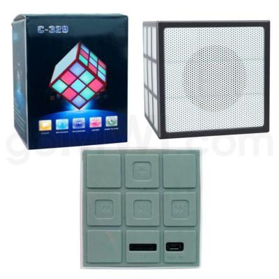 Cell Accessories: C-329 Cube Bluetooth Speaker Black