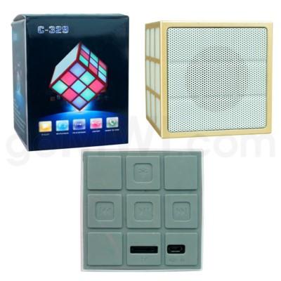 Cell Accessories: C-329 Cube Bluetooth Speaker Golden