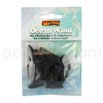 Wildberry Incense Ocean Wind  Pre-Packed Cones 15/ct