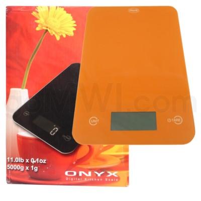AWS 11 lbs x 0.1oz Kitchen Glass Scales - Orange