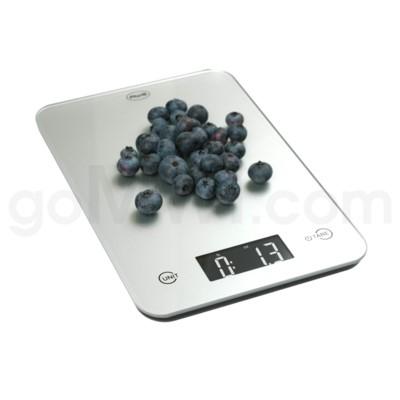 AWS 11 lbs x 0.1oz Kitchen Glass Scales - Silver