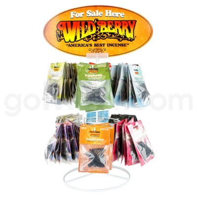 Wildberry Incense 12 Fragrance Cone Display Kit