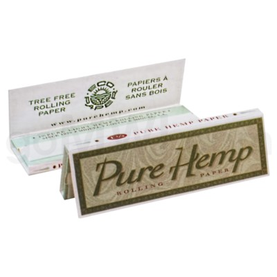 Pure Hemp Rolling Papers 1 1/4'' GREEN BOX 50/pk 25ct/bx