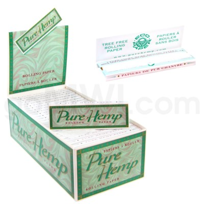 Pure Hemp Papers 50CT/BX GREEN BOX