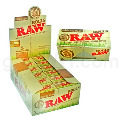 Raw Organic Hemp 5 Meter Rolls 24/bx