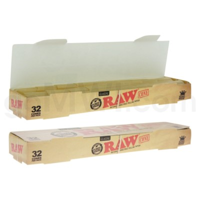 Raw Classic Pre-Rolled King Size Cones  32ct/bx
