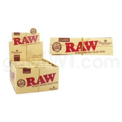 Raw Classic  King Size Slim Connoisseur+ Tips 32/pk 24ct/bx