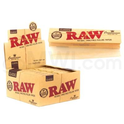 Raw Organic Hemp King Size Slim Connoisseur 32/pk 24ct/bx