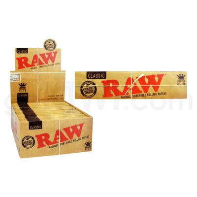 Raw Classic King Size Slim Rolling Papers 32/pk 50ct/bx