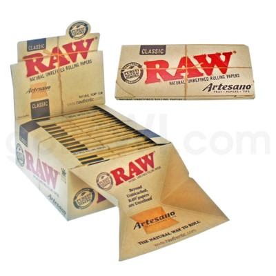 Raw Classic King Size Slim Artesano Rolling Papers 32/pk